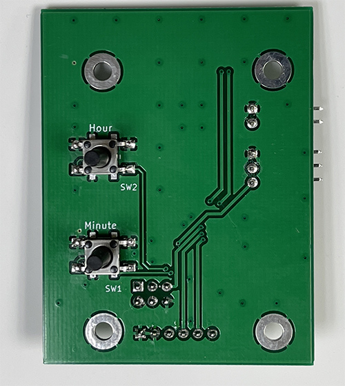 Word Clock PCB Complete Back
